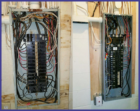 circuit breaker panel before and after